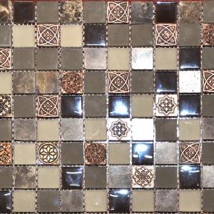 Yukon Emperador Mosaic 12x12