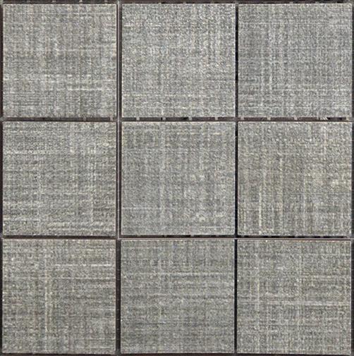 Mosaico Linho Dark Grey 12 X